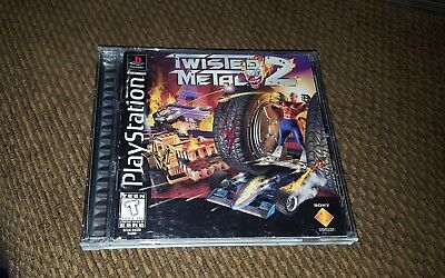 Twisted Metal 2 (Sony PlayStation 1, 1997) Sony PS1 Black Label Complete