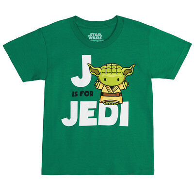 Star Wars J Is For Jedi Yoda Officially Licensed Toddler T-Shirt - Green