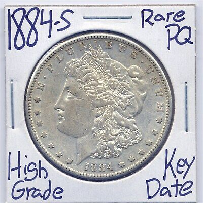 1884-S Morgan Dollar Rare Key Date US Mint PQ Stunner Silver Coin High Grade