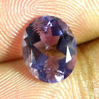 2.60 Ct 100% Natural Amethyst Facet Cut Oval Ring Size Cabochon A+++ Gemstone