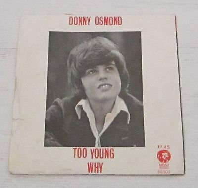 "Israel Rare Ep Donny Osmond The Osmonds 7"" 4 Songs Israeli"