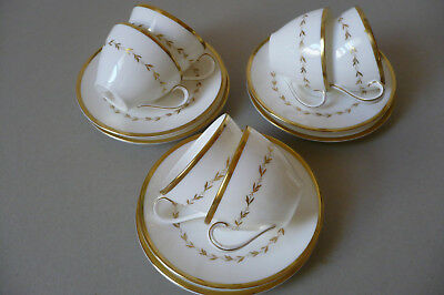 Royal Doulton Covington H4966 6 coffee cups & saucers. As New