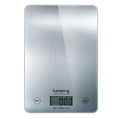 Lumsing 11lbs/5Kg LCD Digital Kitchen Scale Weight Balance meat Food Diet postal