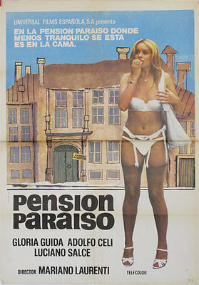 Pension paraiso  -- Cartel de Cine Original --