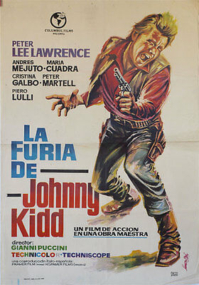La furia de Johnny Kidd  -- Cartel de Cine Original --