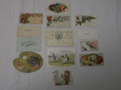 Lot Of 13 Antique Vintage Victorian Calling & Trade Cards ~ Paper Ephemera