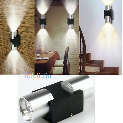 Double Stainless Steel Outdoor Wall Light Up/Down for Corridor Stair/ Bar/ Aisle
