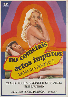 No cometais actos impuros -- Cartel de Cine Original --