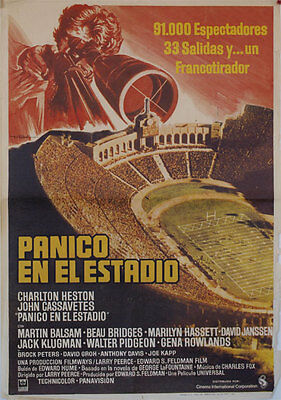 Panico en el estadio  -- Cartel de Cine Original --