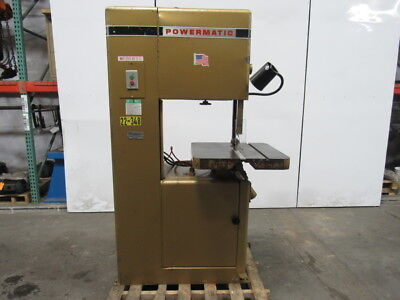 "Powermatic Model 81 21"" Vertical Band Saw 19-1/2"" Throat 2Hp 208-230/460V 3Ph"