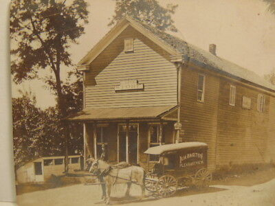 Vintage photo postcard:  J.L. Barton's Store, Pleasantview, PA; postmarked 1910