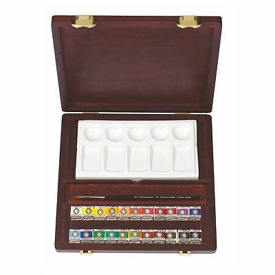 Royal Talens Rembrandt Water colour paint Woodenartists Box Traditional Pans Set