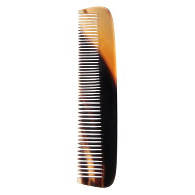 GOLDDACHS Horn Comb, split and toothed, 18,5cm