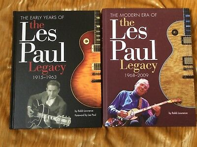 The Les Paul Legacy-2xHardcover Books-Early Years 1915-1963+Modern Era 1968-2009