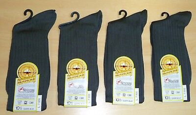 4 PAIRS OF VINTAGE 1980's MEN'S LONG LENGTH ITALIAN GREY SOCKS SHOE SIZE 6-7