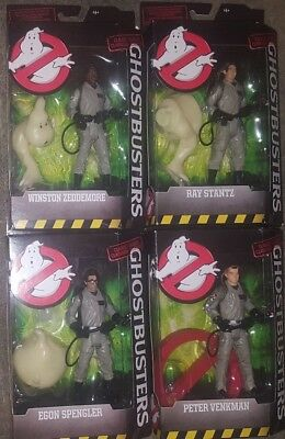 Ghostbusters Mattel Matty Collector 6 Inch Figure Set Lot of 4 with Logo Ghost