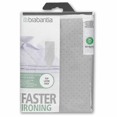 Brabantia Metalised Ironing Board Cover Size D 135cmx 45cm - Silver