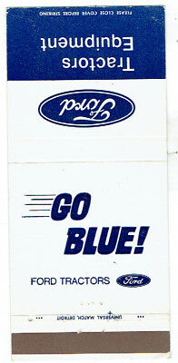 Ford Tractors & Equipment Go Blue Matchbook Cover