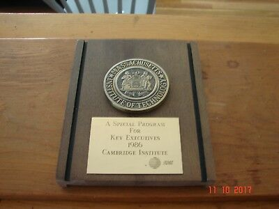 1986 MIT Massachusetts Institute of Techology, Cambridge Institute, AT&T Plaque