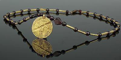 Ancient Viking Merovingian Gold Necklace - Circa 10Th Century Ad