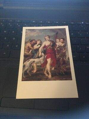 Vtg Postcard: Diana and her Nymphs on the hunt, Peter Paul Rubens