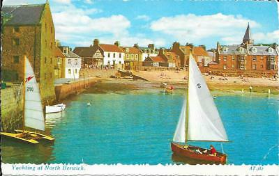 Yachting at North Berwick, East Lothian - Posted Postcard 1969