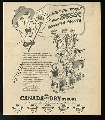 1953 Canada Dry flavored syrup for soda fountain concession   trade print ad