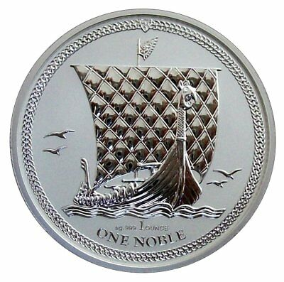 ++ Isle of Man - Noble 2017 - 1oz Silber - reverse proof - Auflage 5000 ++