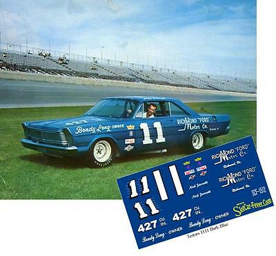 CD_1512 #11 Ned Jarrett   1965 Ford   1:25 Scale Decals