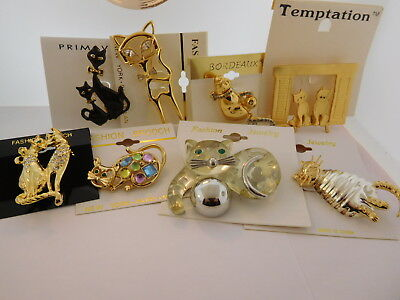 8 Cat Family of Jewelry New Brooches All Breeds Cute MEOW Fun