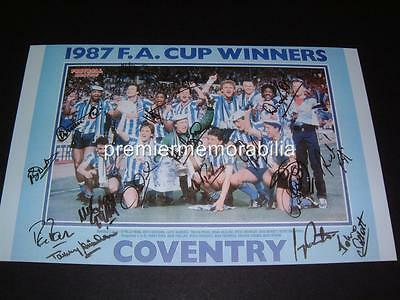 COVENTRY CITY FC 1987 FA CUP FINAL SIGNED REPRINT x 17 KEITH HOUCHEN