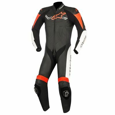 Alpinestars Challenger V2 Black White Red 1 Piece Leather Motorcycle Suit NEW