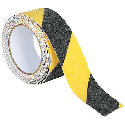 TRIXES 3M Self Adhesive Anti-Skid Hazard Tape Spool Bold Yellow and Black Safety