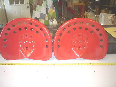 4 New Red Antique Style Horse  Farm Machine & Tractor Metal Bar Stool  Seat