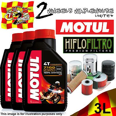 3L Motul 7100 20W50 Oil And Hiflo Hf177 Filter Fits Bikes Listed In Description