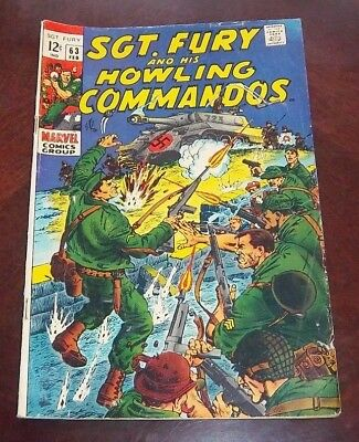 SGT. Fury and his Howling Commandos  # 63 Marvel Comics Grouip