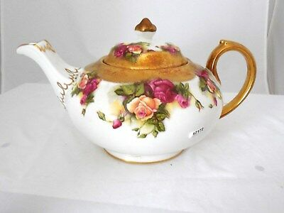 Beautiful Gold Roses Royal Chelsea England Golden Rose Teapot 3983A