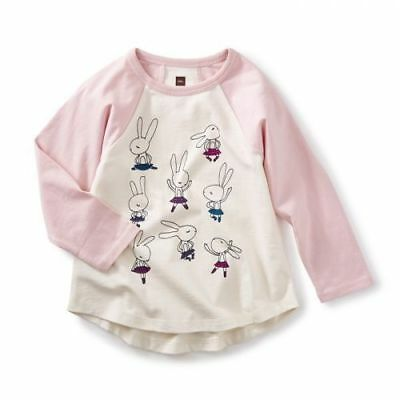 Tea Collection HIGHLAND DANCE Graphic Top Bunnies Scotland 12 NWT