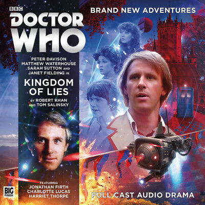 New Sealed Big Finish Doctor Dr Who Kingdom Of Lies 2Cd Peter Davison