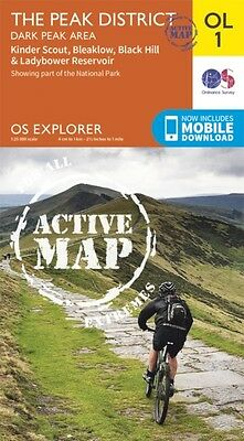 OS Explorer ACTIVE OL1 The Peak District, Dark Peak area (OS Explorer Map Activ.