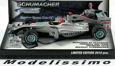 1:43 Minichamps Mercedes GP Showcar Hockenheim Schumacher 2010