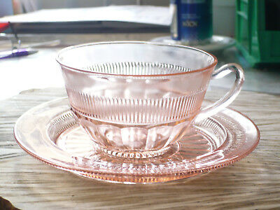 Vintage Anchor Hocking Pink Coronation Depression Glass Tea/coffee Cup