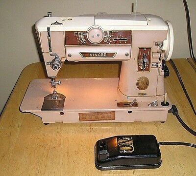 Vtg 1951 Singer Sewing Machine 401A With Power Cord