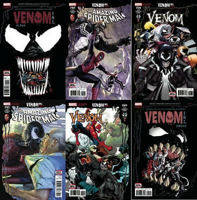 Spider-Man Venom Inc Set Amazing 792, 793, Venom 159, 160, Alpha Omega 6 Comics