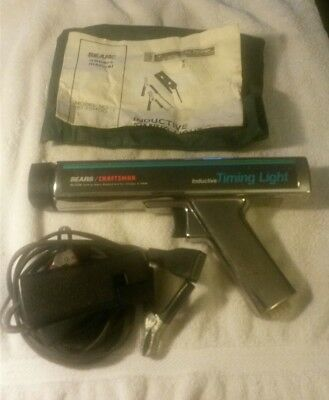 Vintage SEARS/CRAFTSMAN Professional Inductive Timing Light With owner's manual