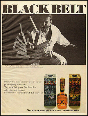 1969 vintage ad for Black Belt After Shave and Cologne  -020212