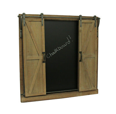 Rustic Barn Style Hanging Chalkboard and Magnet Board with Moving Doors