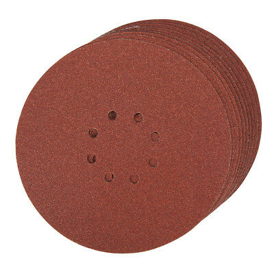 T1130 Hook & Loop Discs Punched 225mm 10 pack 60 Grit Sanding Punched Discs