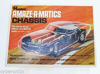 1970 Hasbro Amaze-a-Catics CHASSIS Complete Battery Powered Vintage in Box