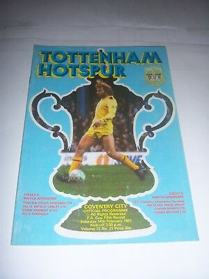 TOTTENHAM HOTSPUR v COVENTRY CITY 1980/81 - FA CUP 5TH ROUND - VOL73 #21